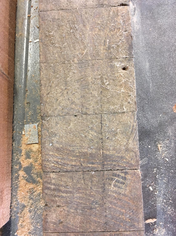 Pine flooring when we first got it.