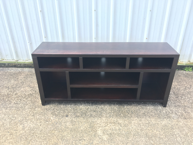 Here's a before picture of the entertainment center.
