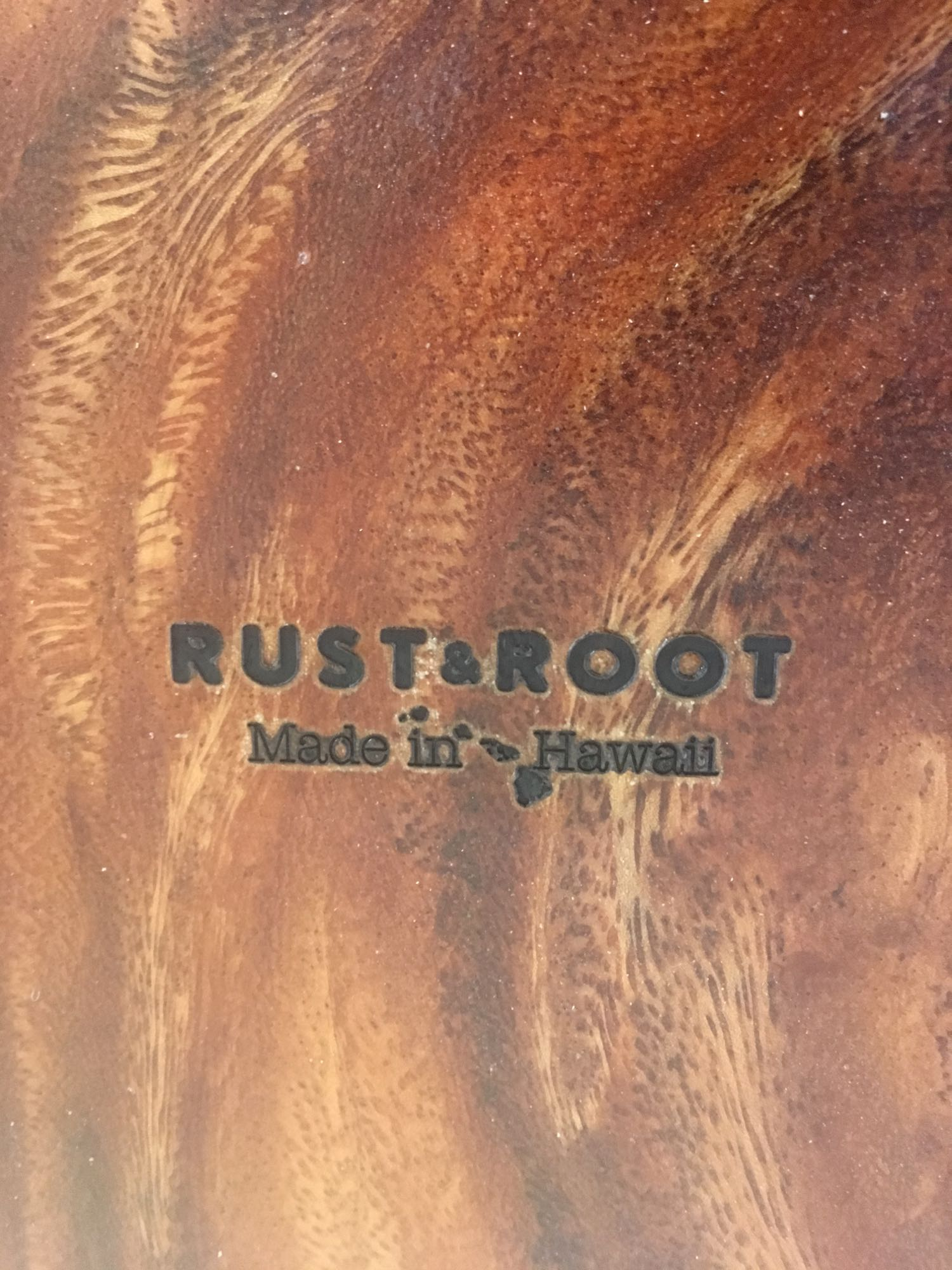 Rust & Root logo branded on the bottom!