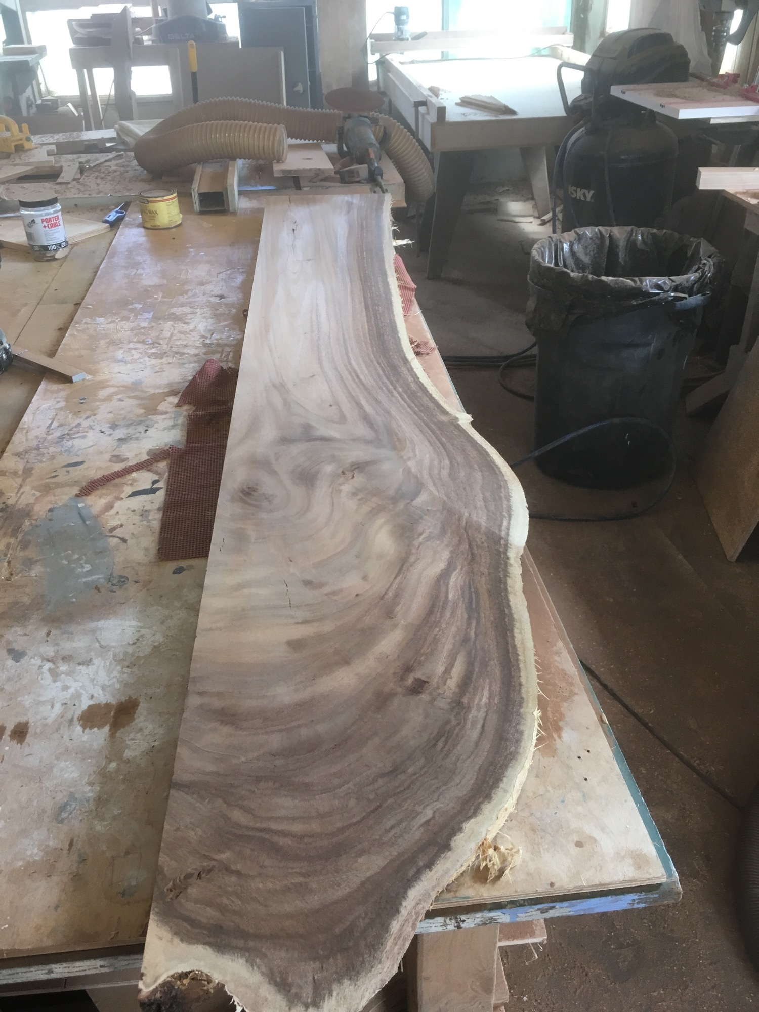 And after a little sanding... so flat!