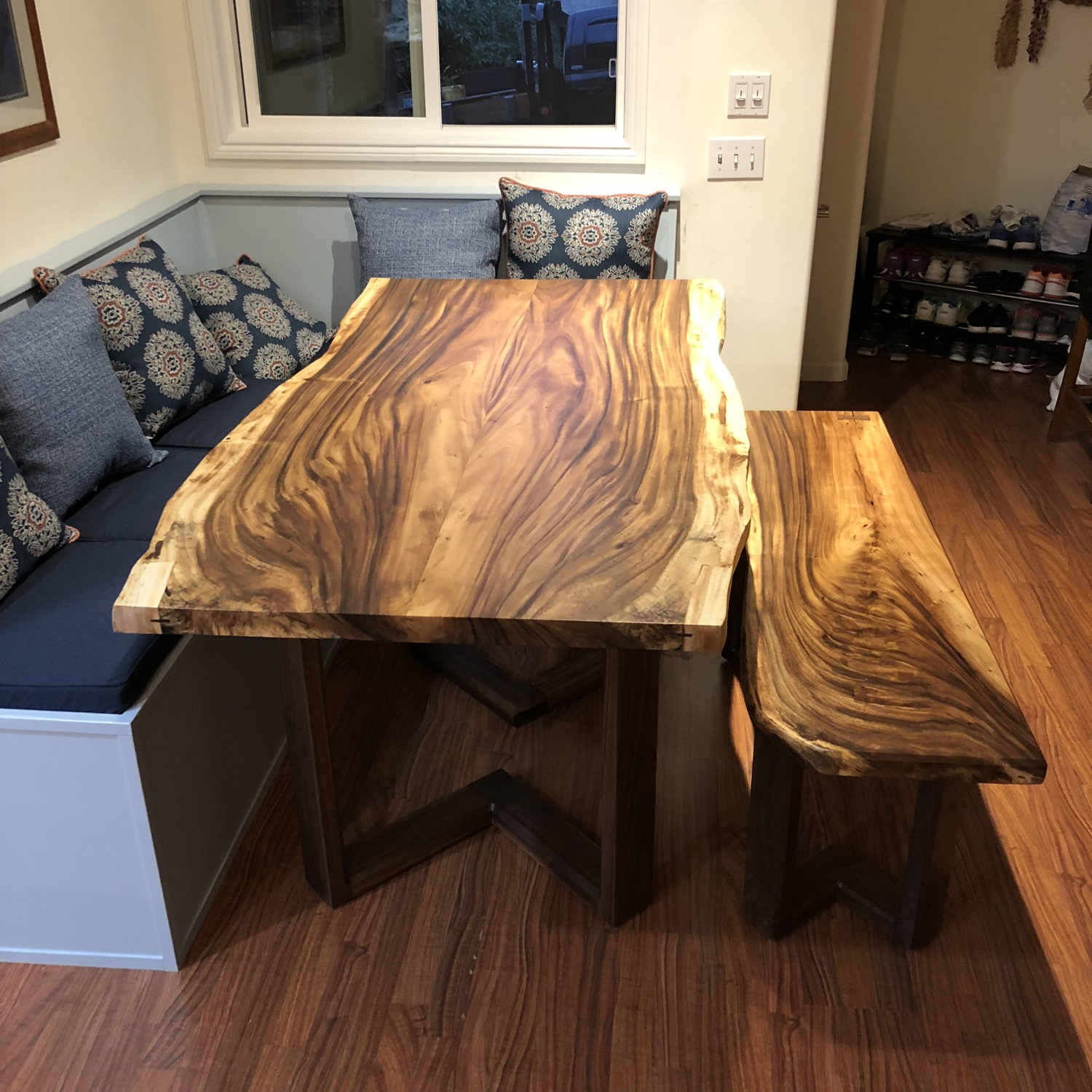 monkeypod dining table and bench 1.jpg
