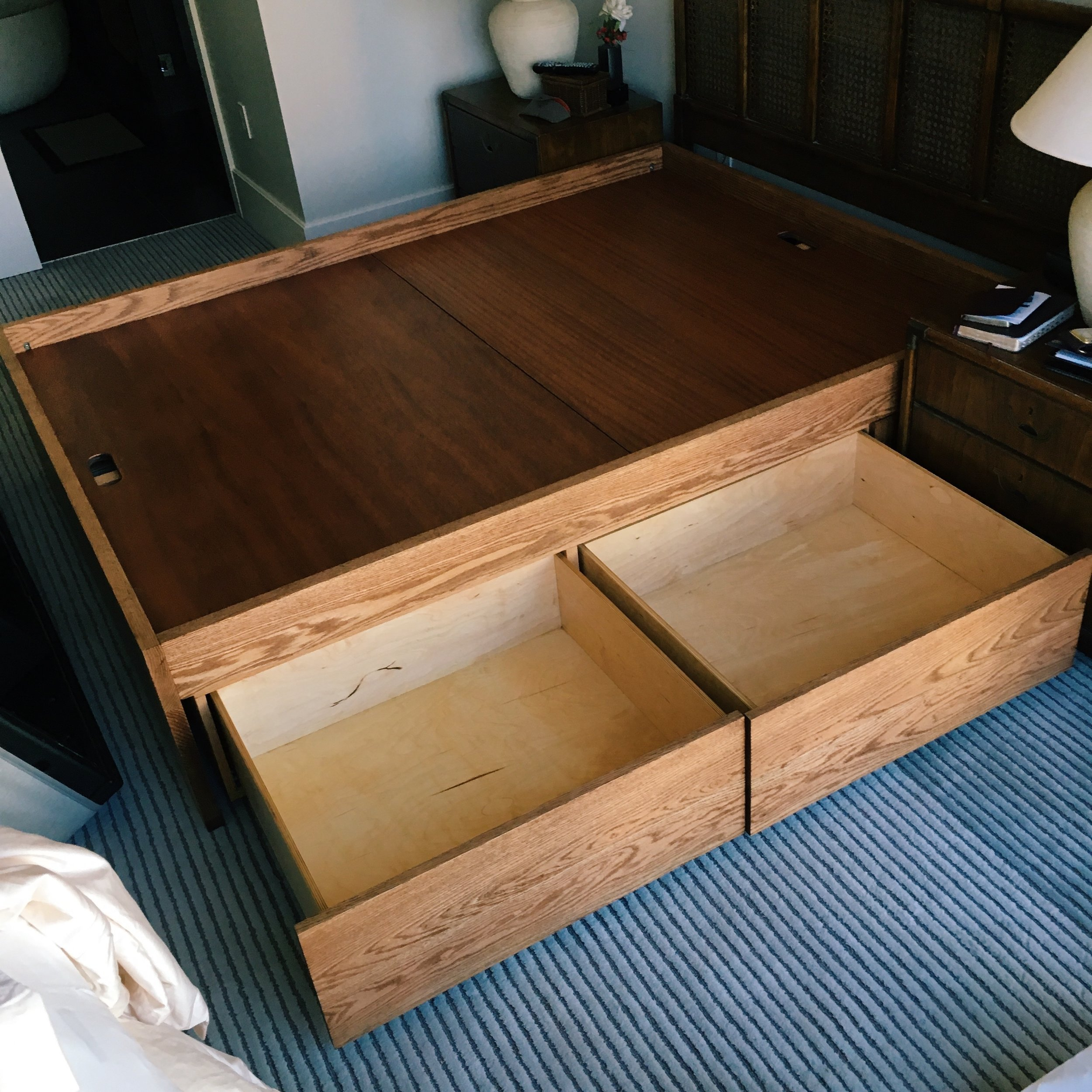 oak storage drawers
