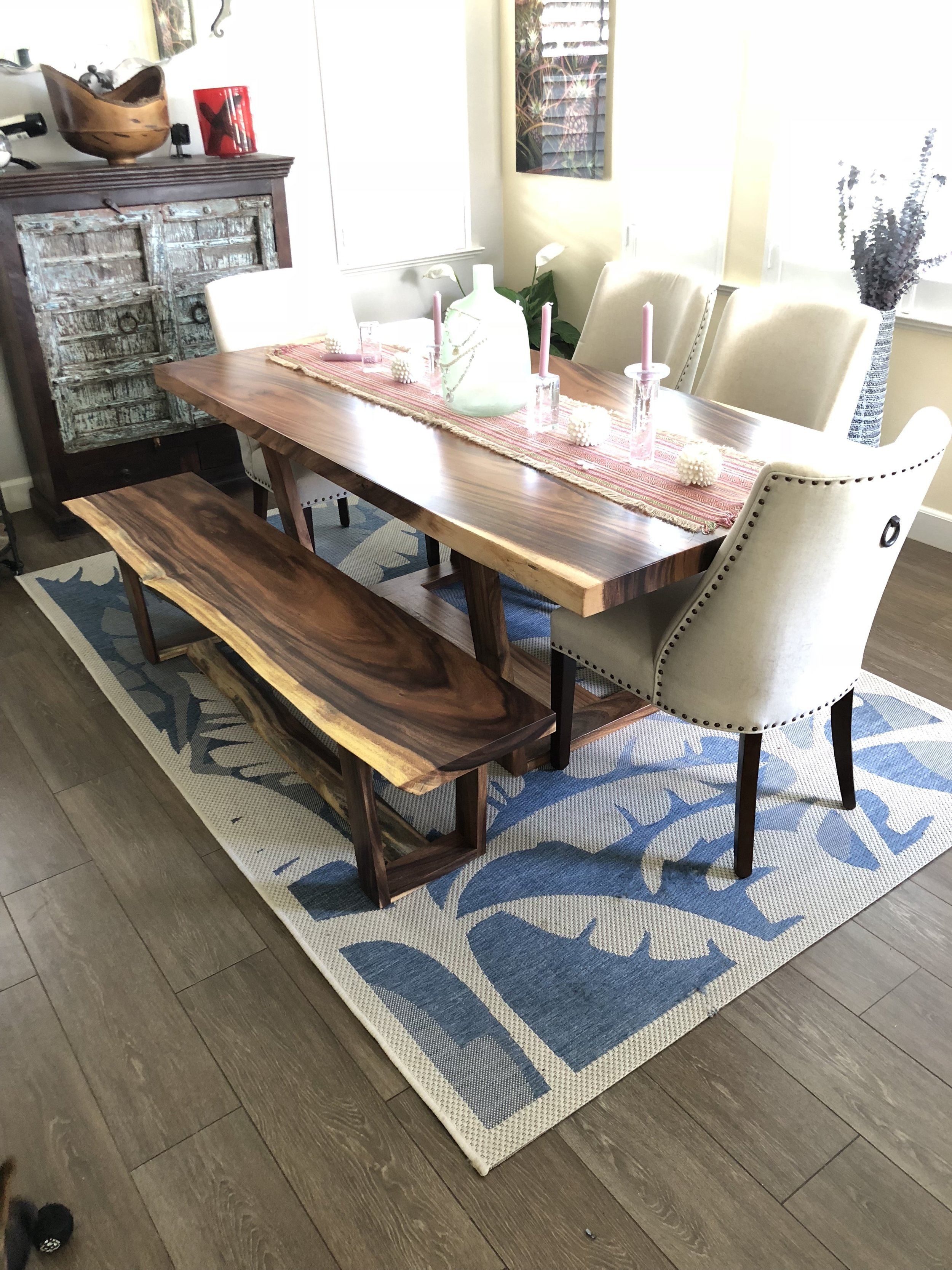 monkeypod dining table