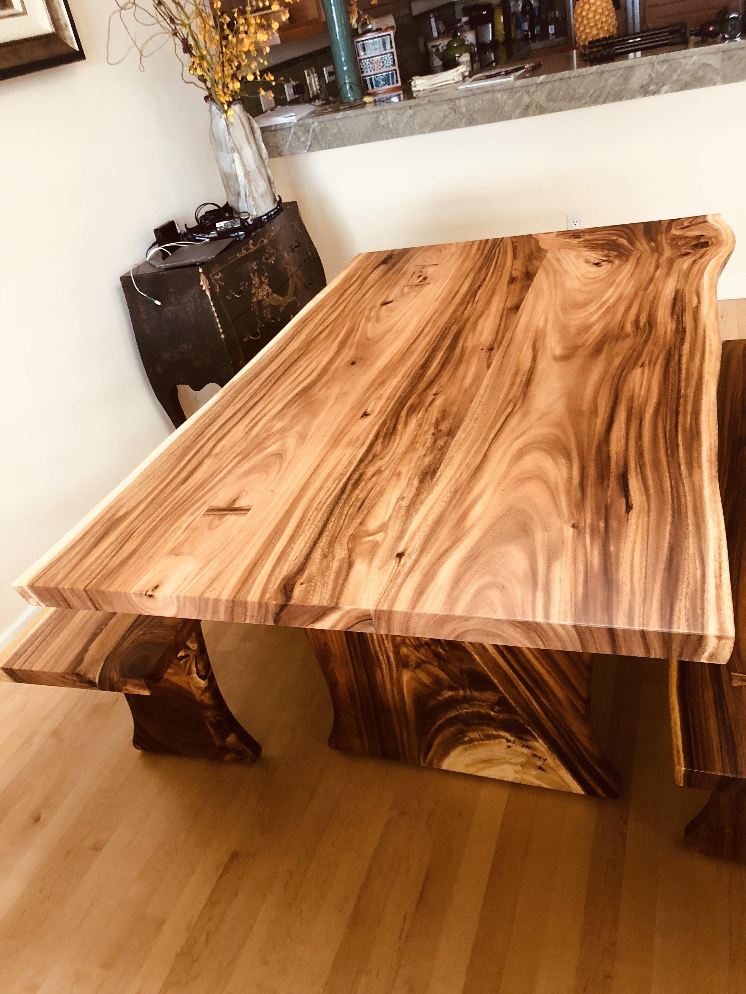 Monkeypod Dining Table Set