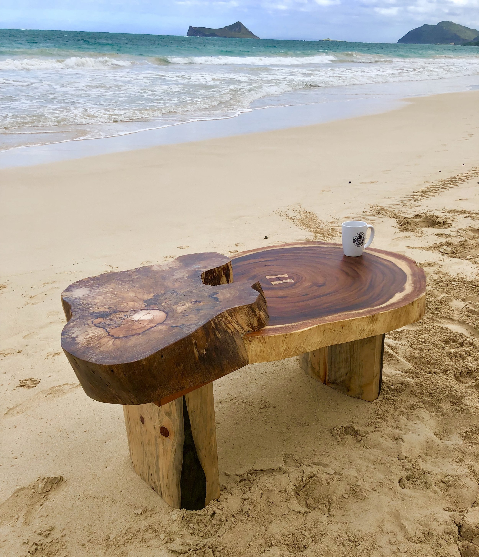 Monkeypod, mango and Norfolk pine coffee table.