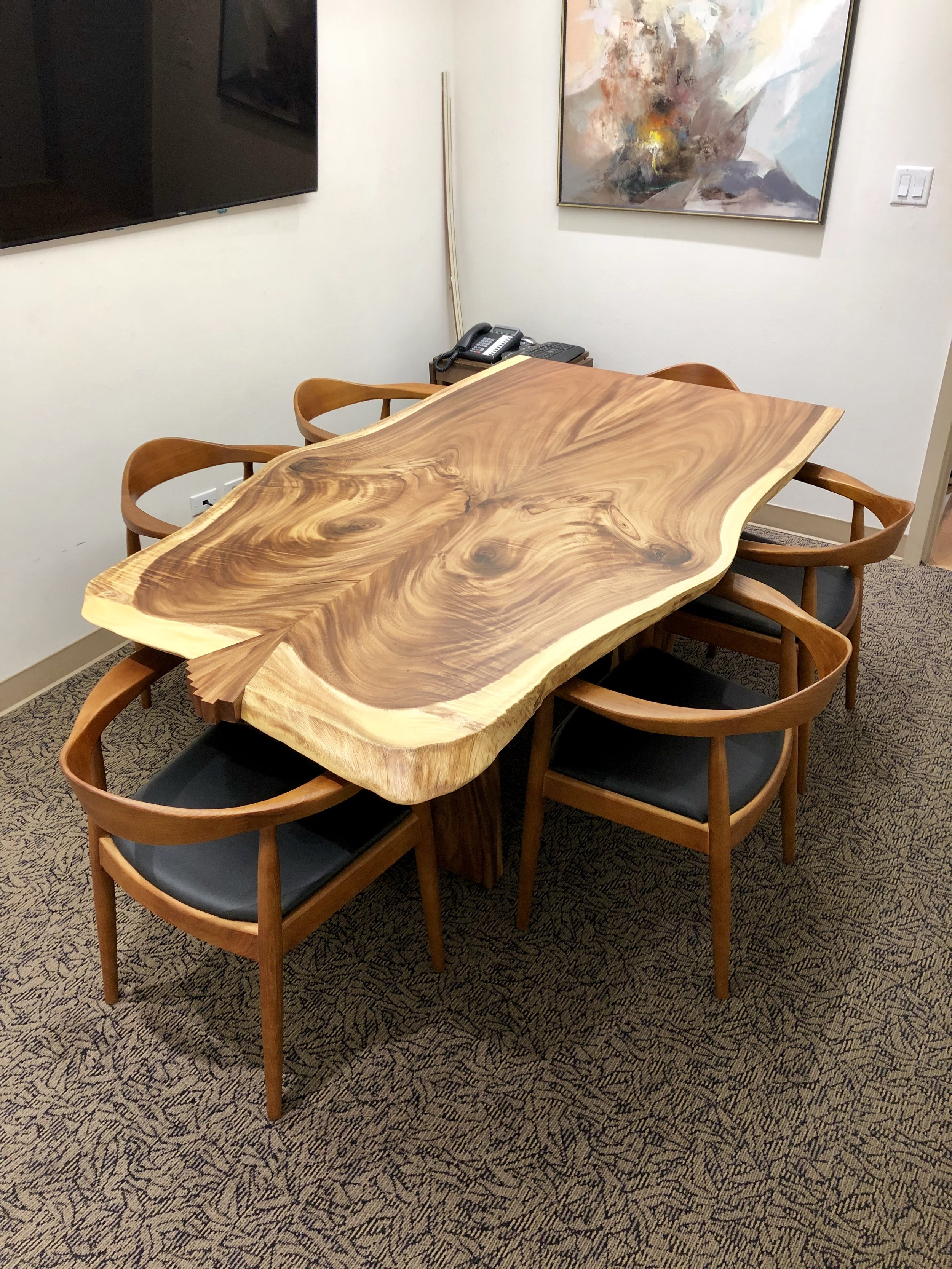 Monkeypod Bookmatched Conference Table