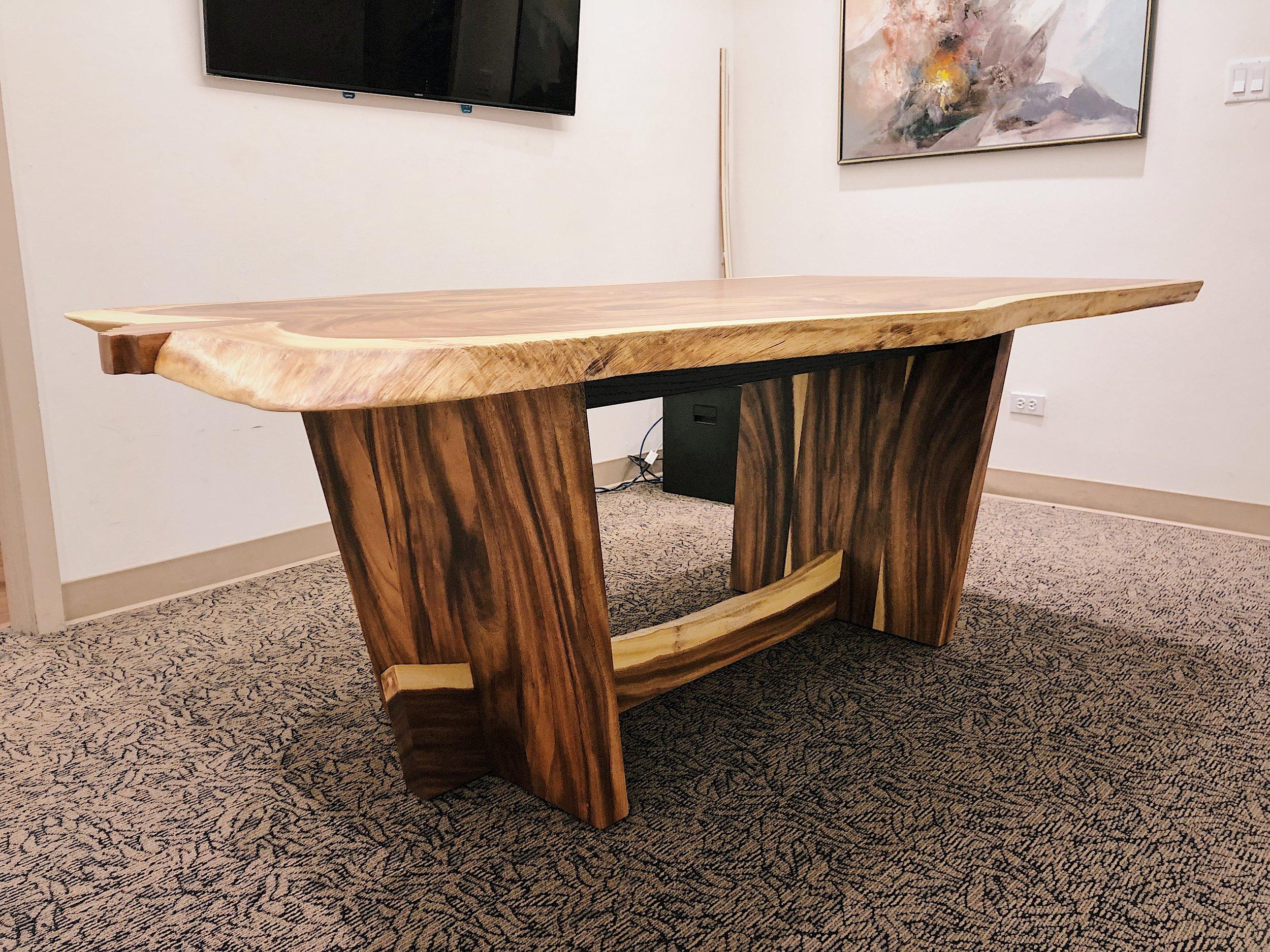 Base inspired by Nakashima's Conoid Table