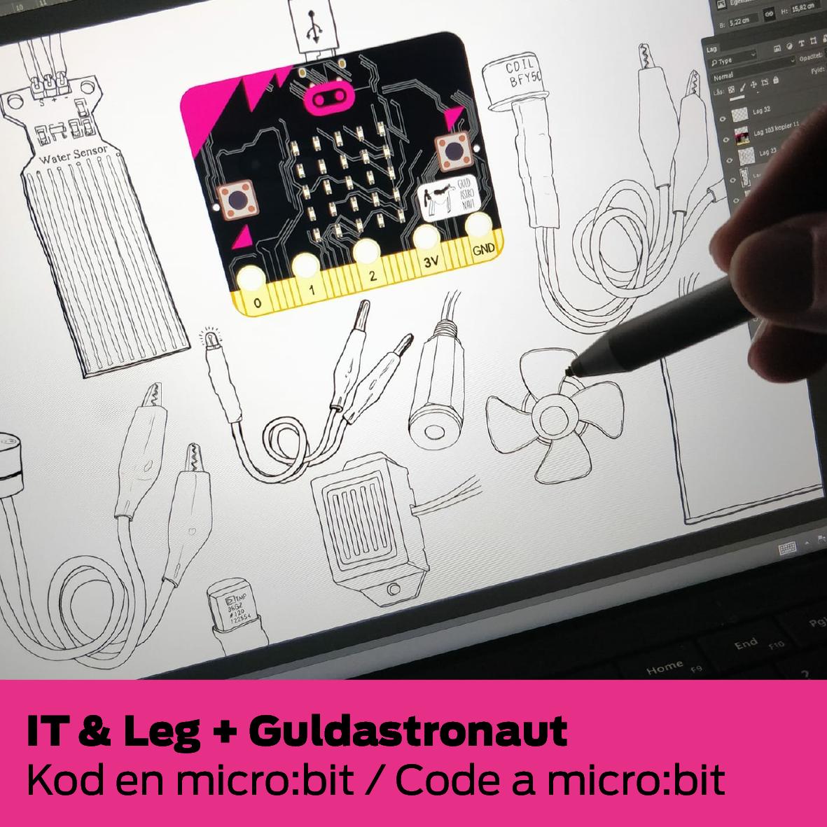 IT & Leg + Guldastronaut: Kod en micro:bit / Code a micro:bit