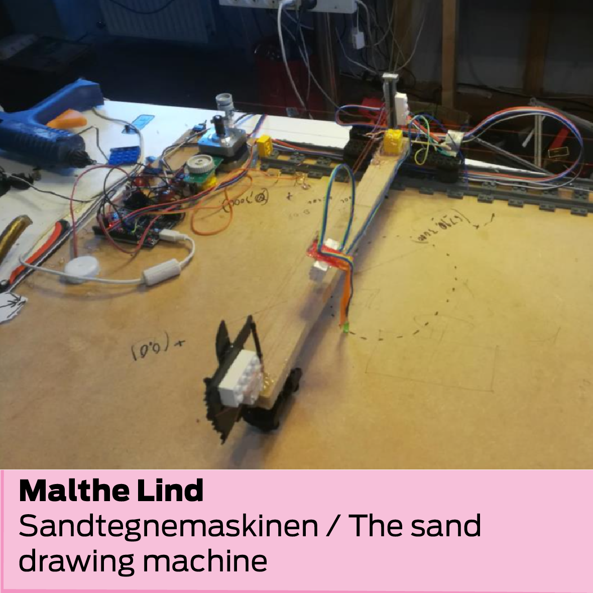 Malthe Lind: Sandtegnemaskinen / The sand drawing machine