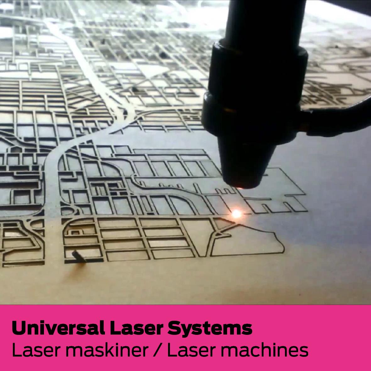 Universal Laser Systems (DK): Laser maskiner / Laser machines
