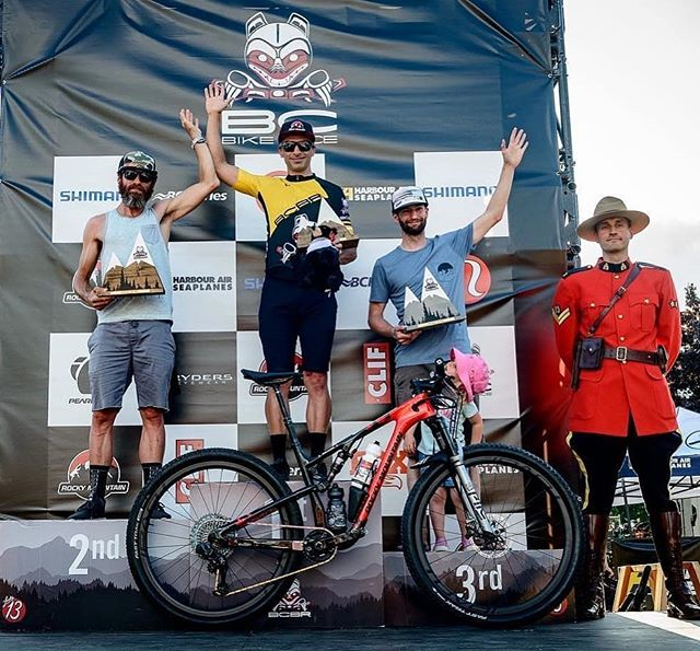 HUUUGGEEEEE congrats to @bradclarkemtb posting a top of the podium result in the Masters 40+ cat at @bcbikerace. Phenomenal achievement. Custom @rockymountainbicycles Element build by @morningtoncycles getting the job done! 🤘🇨🇦🏔 #inyourelement #lovetheride