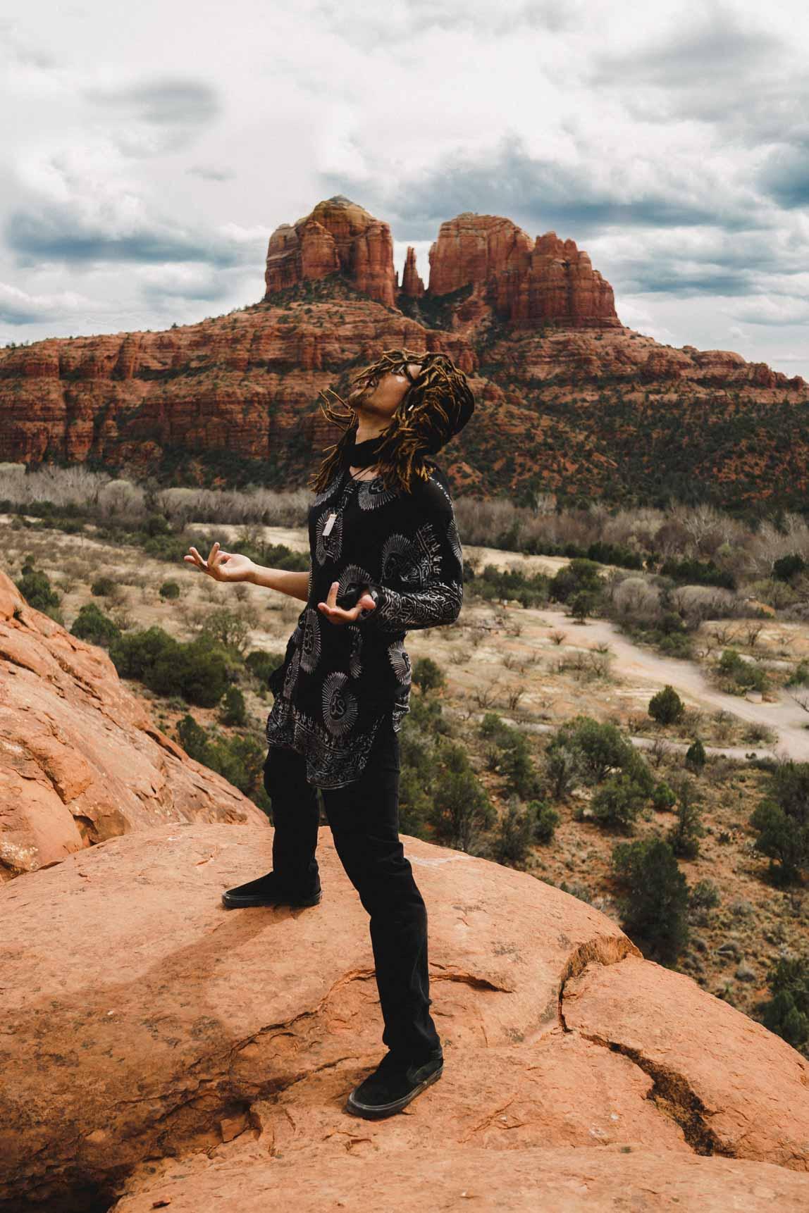 Sedona Arizona Modeled by Aaron Wiggins  Photo by Jas Gold Jason Goldsmith Shot with Sony A7ii and Carl Zeiss 35 1.4