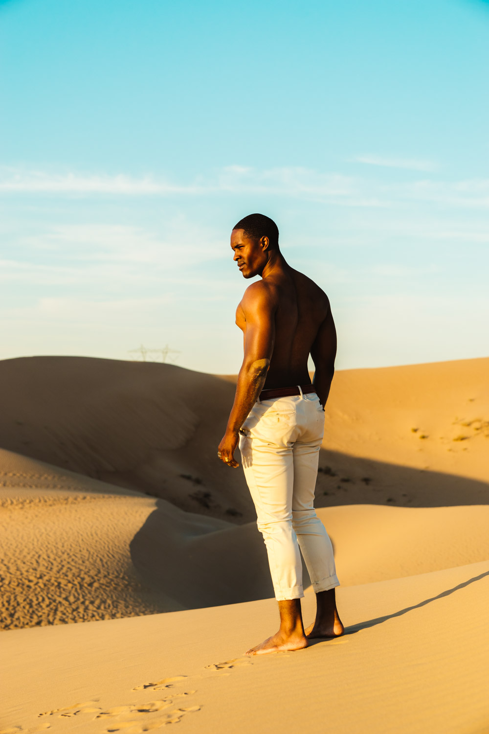 Glamis Sand Dunes Photoshoot Shoot by Jas Gold Jason Goldsmith Modeled by Troy Hurley