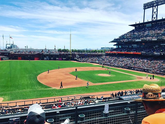 Toasty AF but what a day for a ball game.  @cass.a.frassss