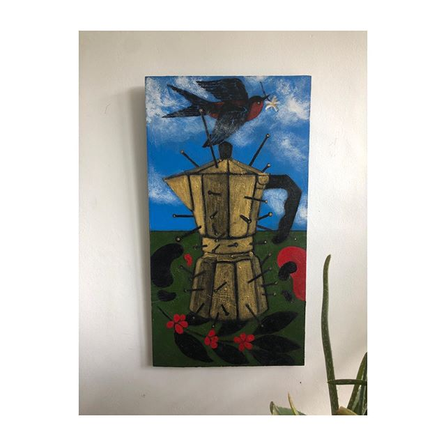 Every Monday morning's inspiration! ☕️SUPERNACULUM DRC (to the last drop) Honored to enjoy this beautiful painting every morning by one of our favourite artists @abeodedina #tothelastdrop #supernaculum #art #inspires #life #drc #congo #abeodedina #kivucoffee #creativeculture #feeds #the #spirit #thankyou #friendship #kivulove 💙