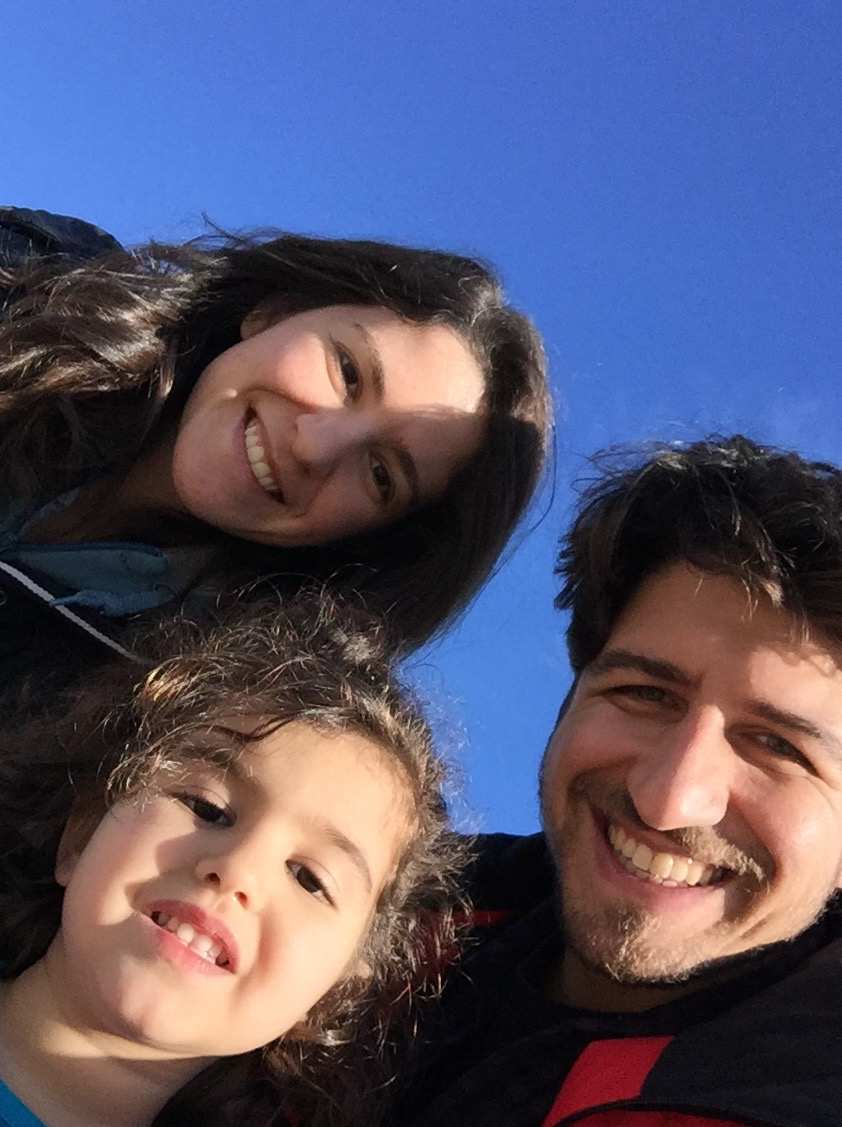 Ipek (upper left) with her husband and daughter.
