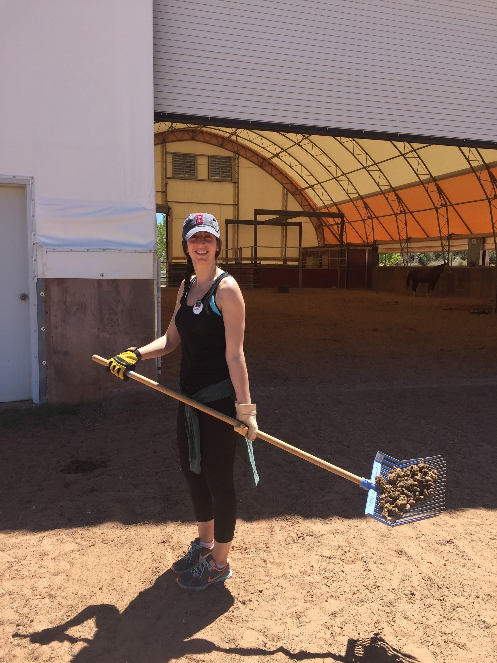 Lisa Helping Horses.JPG