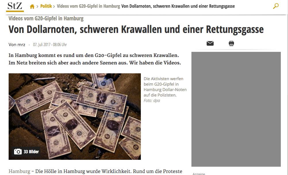 - Stuttgarter Zeitung7 July 2017