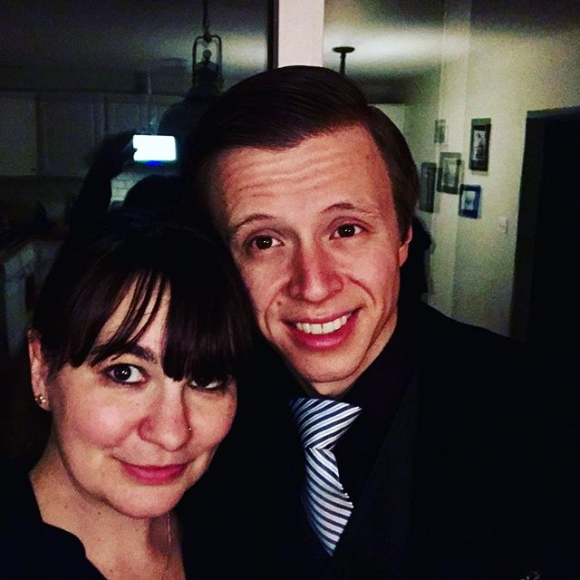 Throwback to this #backstageselfie (sort of) from our Schubert concert last week. We look tired! #thedotys