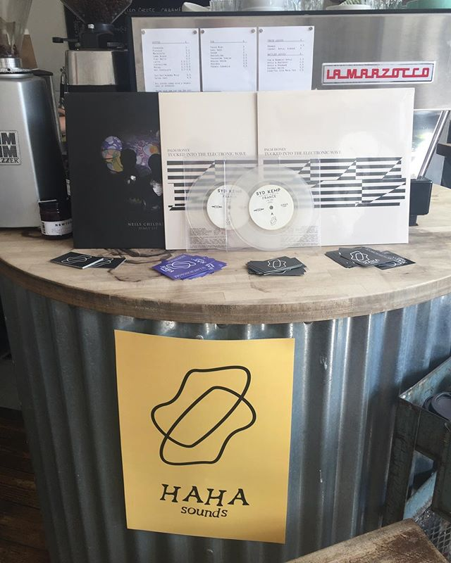 We're at @wiltonwaycafe / @londonfieldsradio all weekend with our vinyl, T's, totes and free stickers or you can order your copy now at www.hahasounds.com  All vinyls are £10 :)