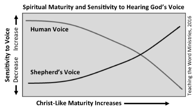 Spiritual Maturity and Sensitivity to Hearing God's Voice  (pg. 161)