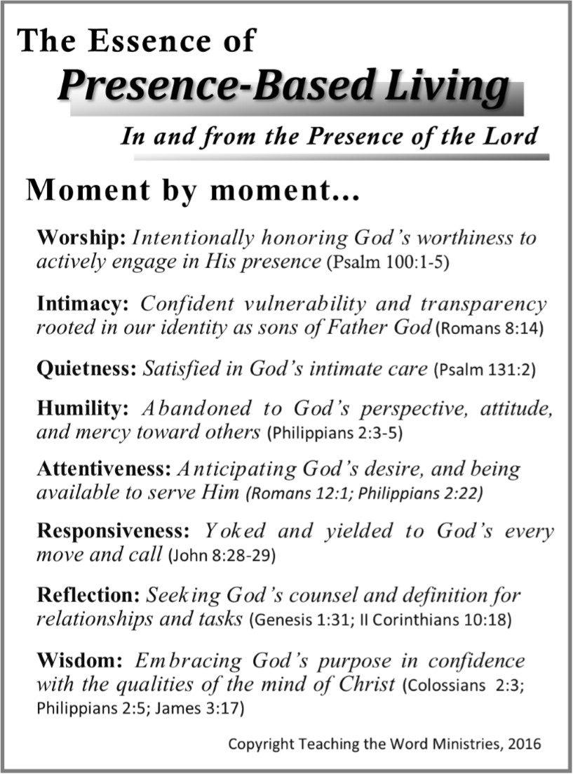 The Essence of Presence-Based Living  (pg. 166)