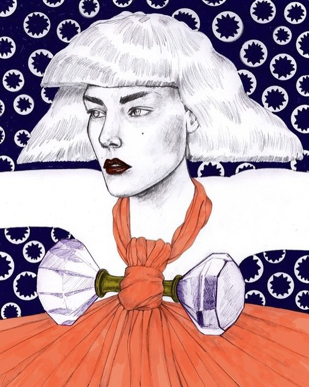 #fashionillustration by Artaksiniya // Fashion Illustration Contest! Submit your original illustration of your favorite Arcana look for a chance to be featured on our feed // Submit your work to arianna@arcananyc.com