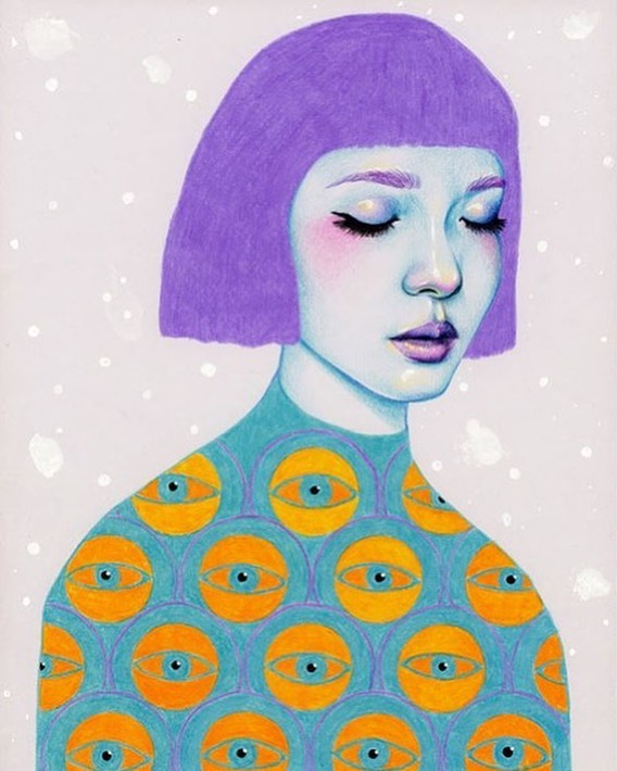 Submit your #fashionillustration of your favorite Arcana look to arianna@arcananyc.com for the chance to be featured on our feed and website! #drawarcana #contest . Illustration by Natalie Foss 💜