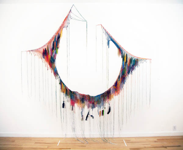 An Offering of Self,  Commissioned Installation ,  Mixed Media on Hammock, 100 x120 in.