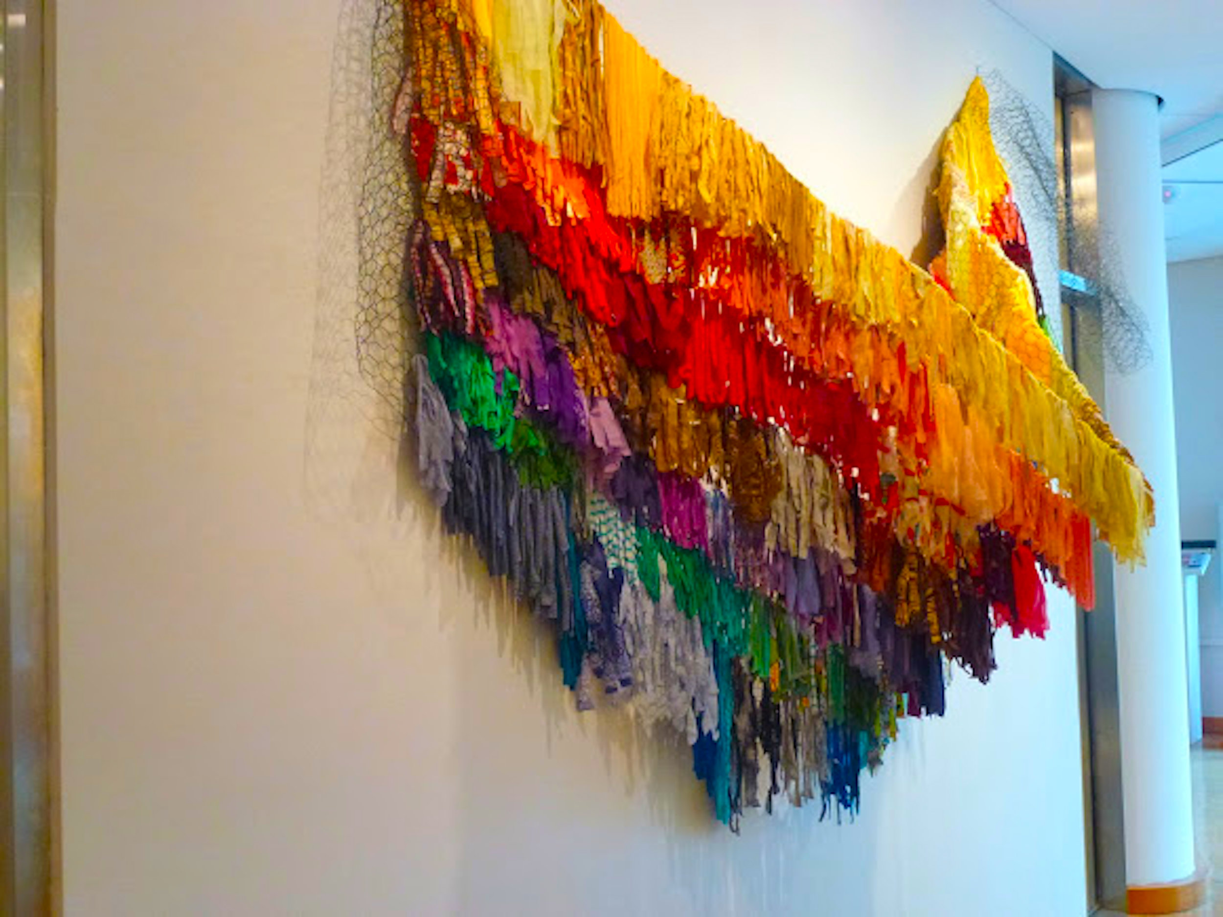 "Amber Robles-Gordon's piece, ""my rainbow is enuf,"" is part of the exhibit. Photo by Dianne Smith, courtesy of Robles-Gordon."