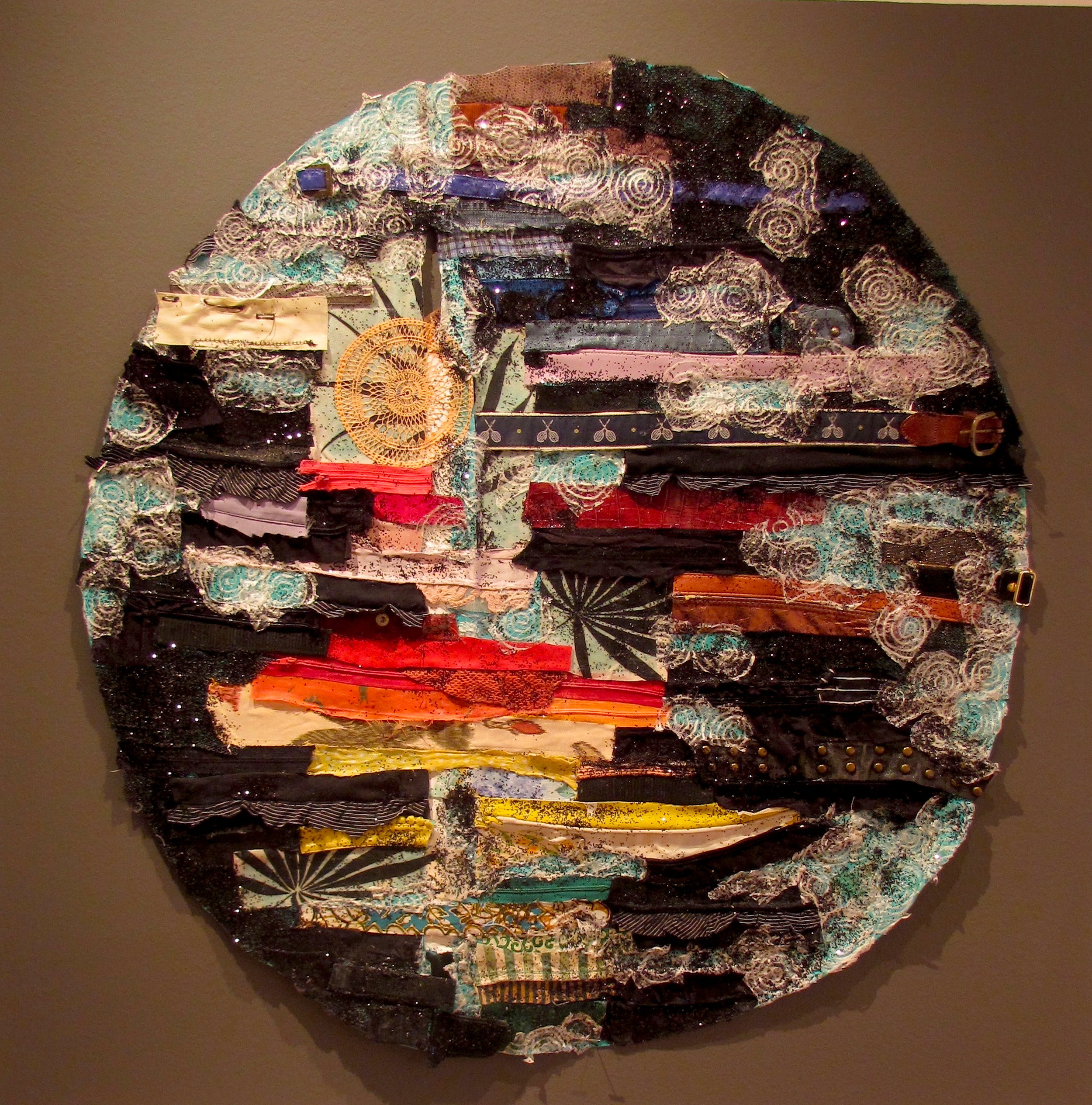 All That Is, Mixed Media on Canvas, 36 Diameter, Price available upon request.