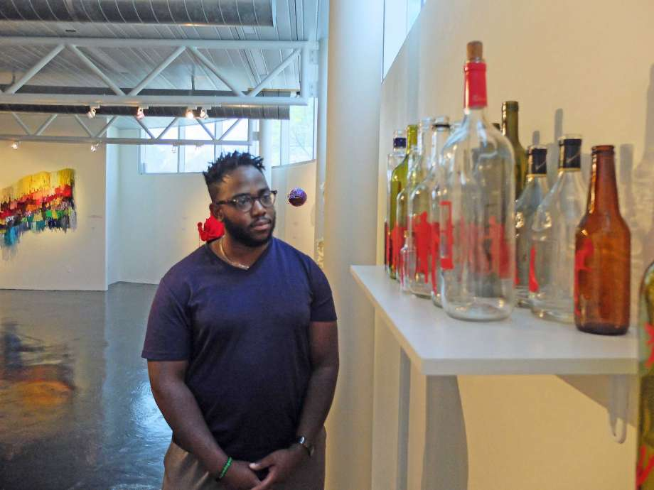 """Domimic Clay was prepared to be on the defensive when the exhibition """"i found god in myself"""" opened at the Houston Museum of African American Culture."""