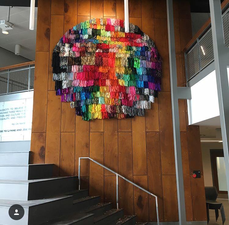 Spectrumatic Beacon, Commissioned Public Artwork, Textile on Chicken Wire, 2018