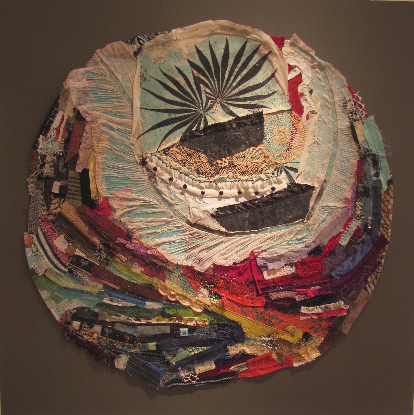 All That I Am, Series, Mixed Media on Canvas, 36 Diameter, 2012, Sold