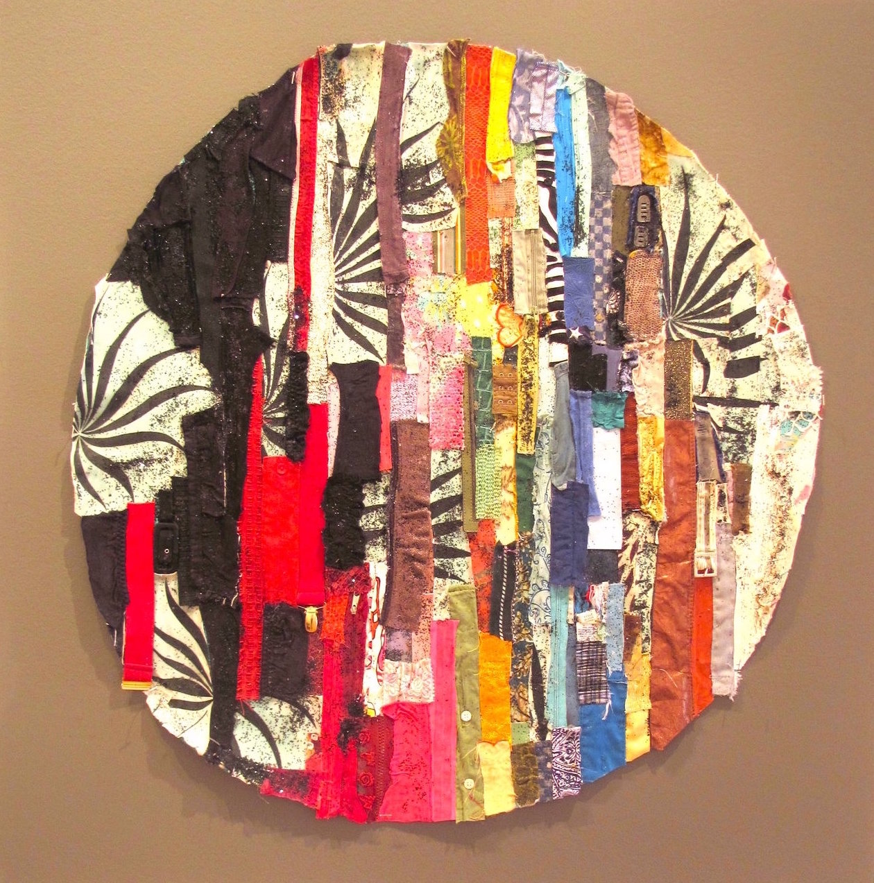All That Was, Mixed Media on Canvas, 36 Diameter, 2012, SOLD