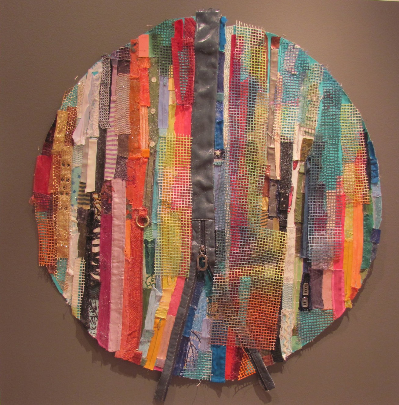All That Is Constructed, Mixed Media on Canvas, 36 Diameter, Sold