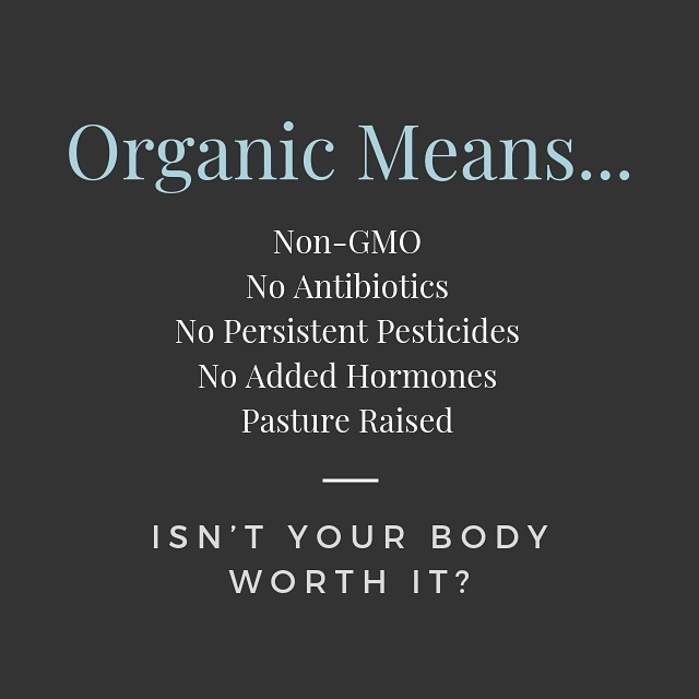 Pay a little more now to get good quality organic or a lot later in health issues!  Aren't you worth it?
