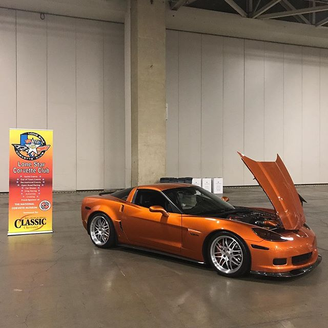 At Europa Games Expo - car show section.  #Corvette #z06 #boosted #boostedcars #boostedlife #twinturbo #akrapovic #akrapovicexhaust
