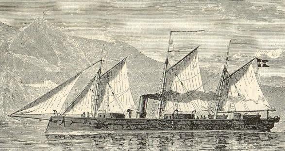 Danish Iron Clad Rolf Krake (1863)