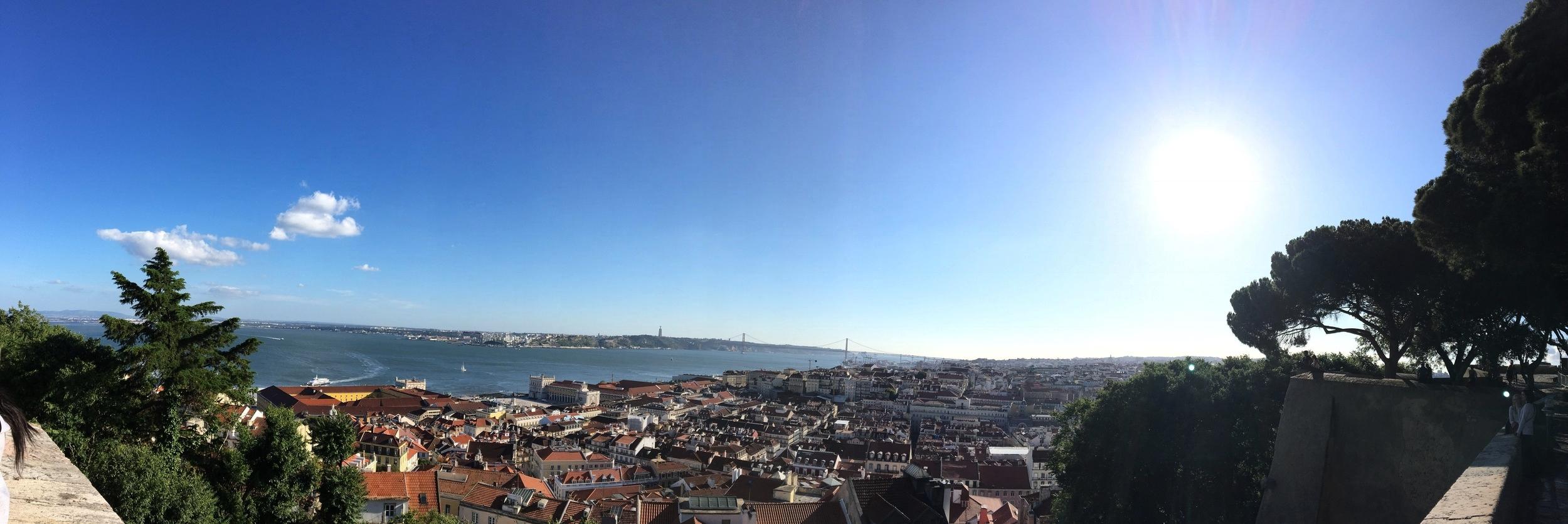 View of Lisbon from  Miradouro da Senhora Monte .