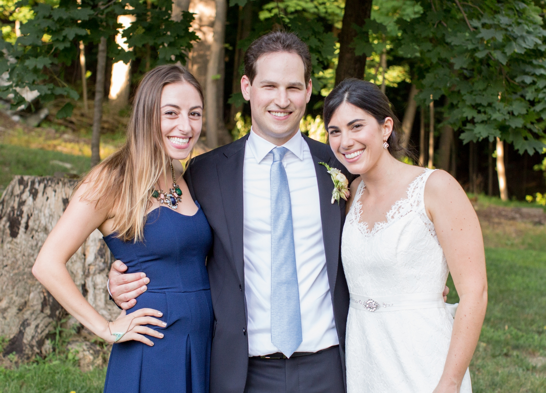 Amanda, Dan and I at our wedding in New York. August 2015  #certainlyfurst