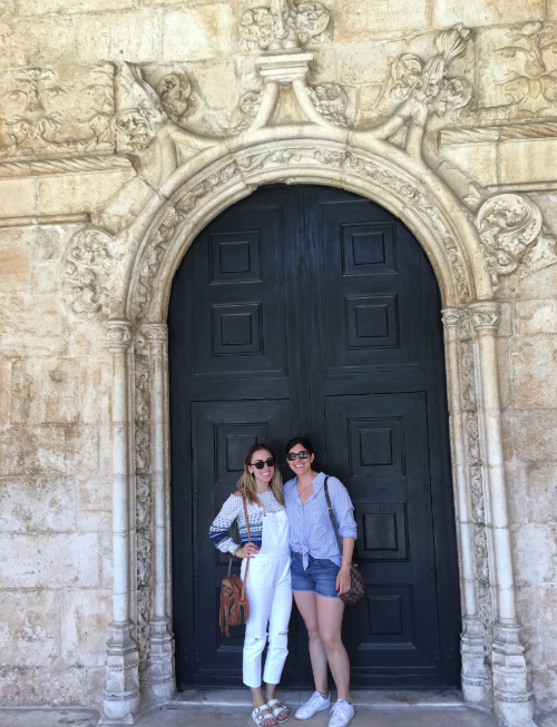 Amanda and Morgan at Jeronimas Monastery in Lisbon, Portugal. (June 2016)