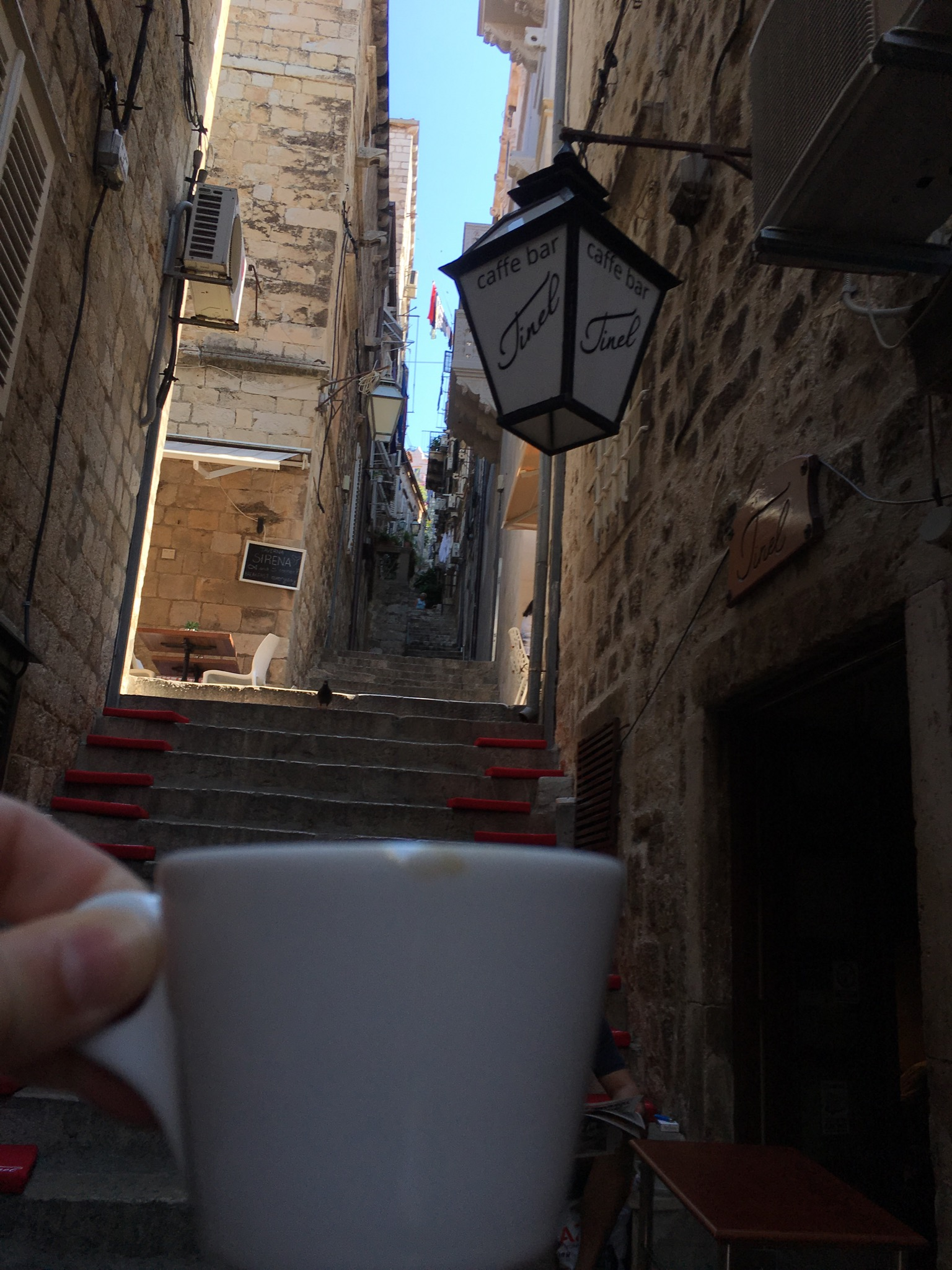 Morning coffee at Tinel