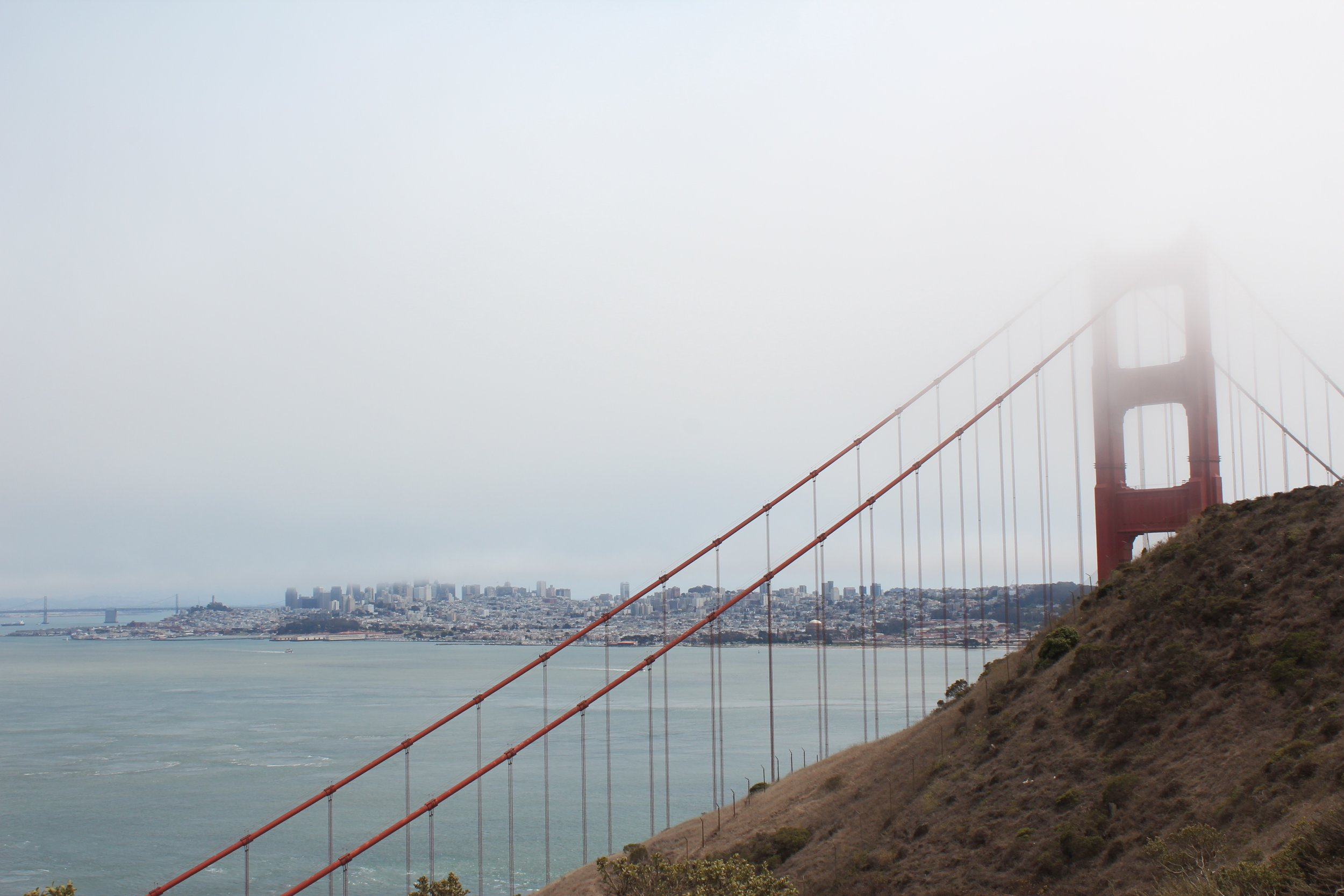 San Francisco skyline views from Marin Headlands. See our  TBP insider tips  for how to get this view!