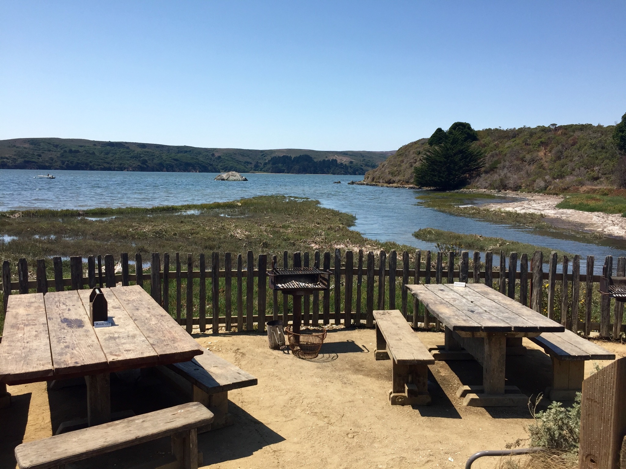 Tomales Bay views from Hog Island.