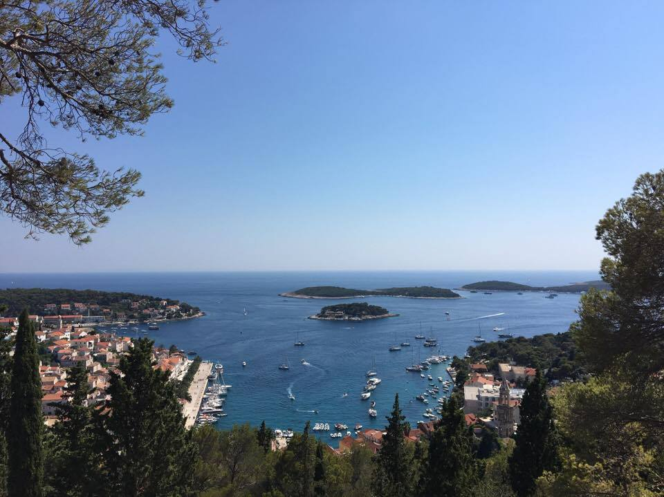 Hvar Town from above