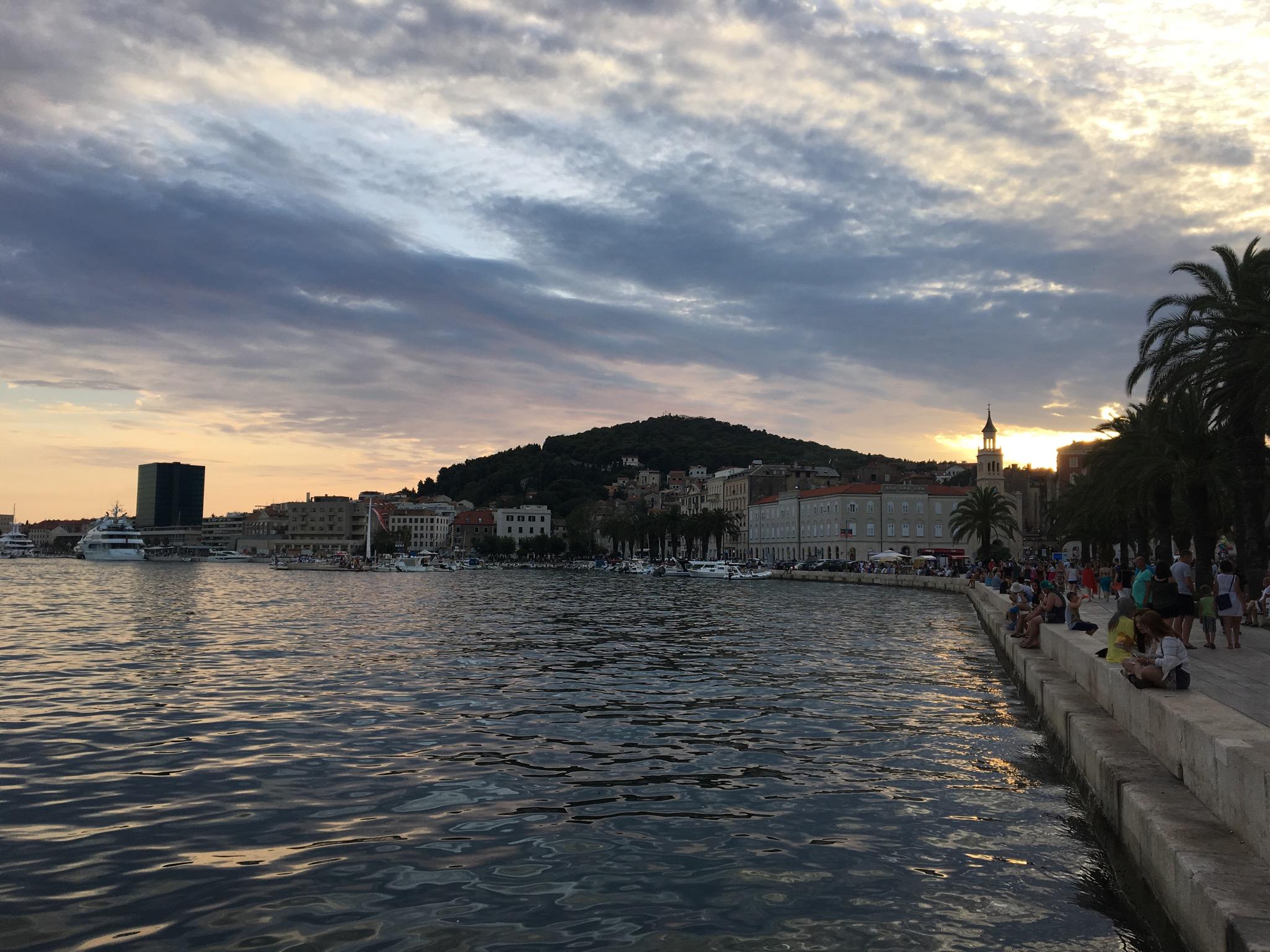 Riva at sunset