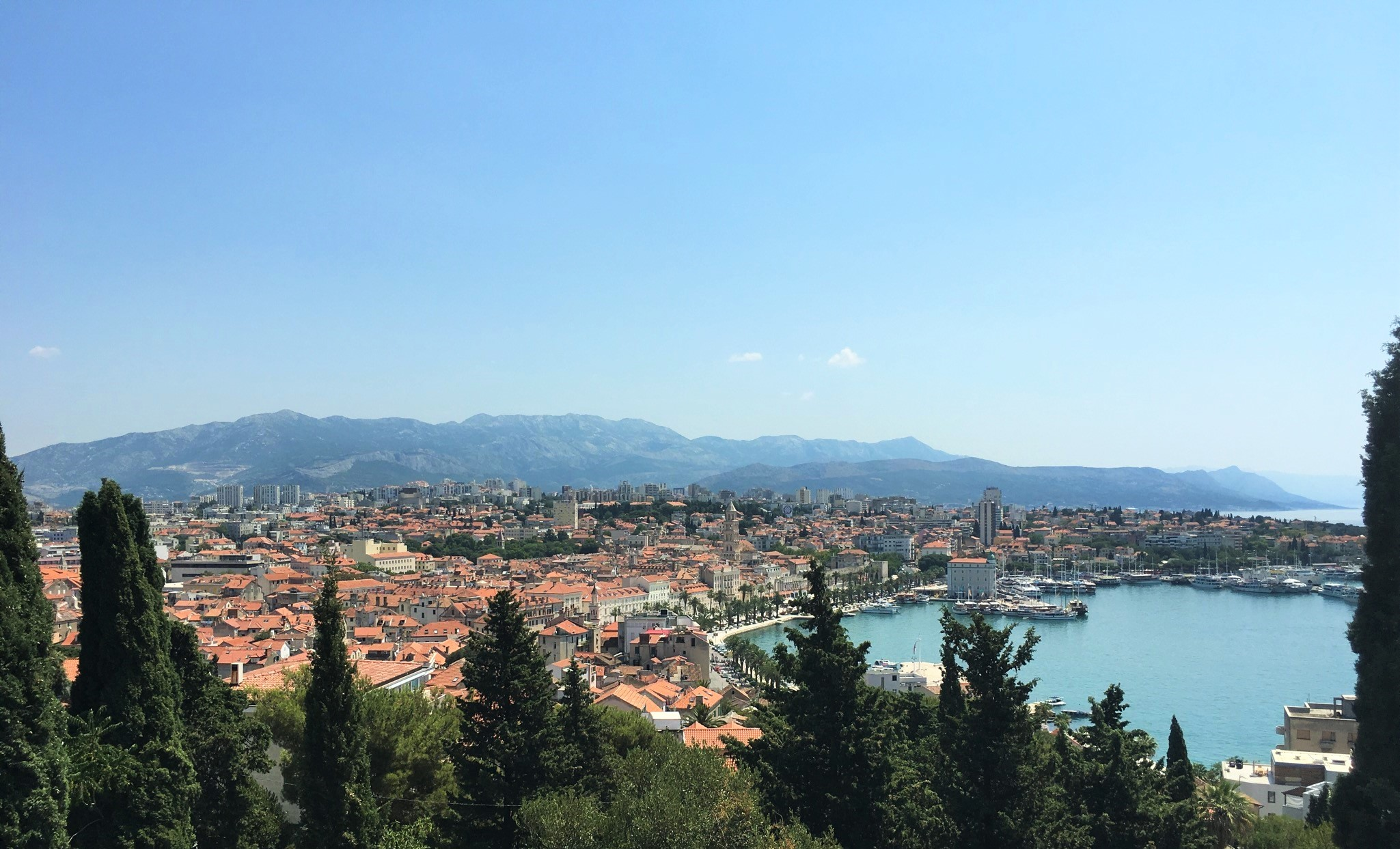 View from Marjan Hill viewpoint