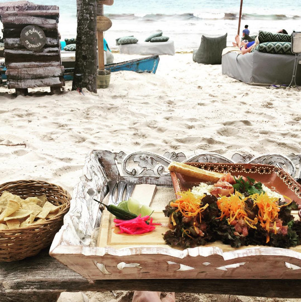 The best fish tacos and some amazing risotto at  Hotel Be Tulum .
