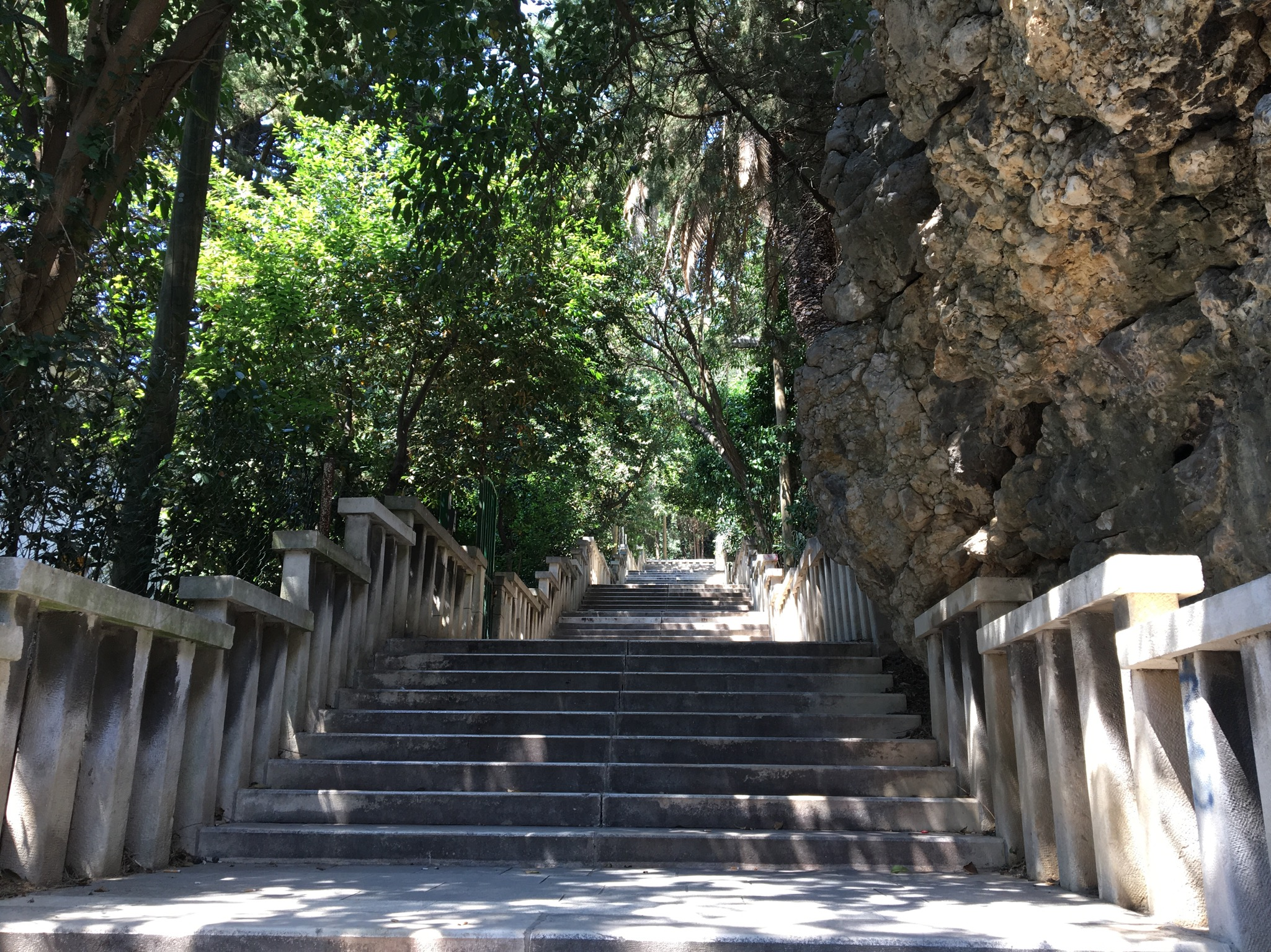 Steps up to Marjan Hill
